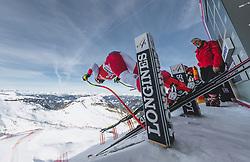 09.01.2020, Keelberloch Rennstrecke, Altenmark, AUT, FIS Weltcup Ski Alpin, Abfahrt, Damen, 1. Training, im Bild Joana Haehlen (SUI) // Joana Haehlen of Switzerland in action during her 1st training run for the women's Downhill of FIS ski alpine world cup at the Keelberloch Rennstrecke in Altenmark, Austria on 2020/01/09. EXPA Pictures © 2020, PhotoCredit: EXPA/ Johann Groder