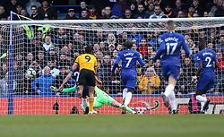 Raul Jimenez of Wolverhampton Wanderers scores a goal to make it 0-1 - Mandatory by-line: Arron Gent/JMP - 10/03/2019 - FOOTBALL - Stamford Bridge - London, England - Chelsea v Wolverhampton Wanderers - Premier League