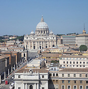 Saint Peter's Square or the Piazza San Pietro, a large plaza which stands in front of St. Peter's Basilica in the Vatican City, Italy. Placed in the centre is a 4,000 year-old Egyptian obelisk, which was places there in 1568. The actual square was designed by Gian Lorenzo Bernini almost 100 years later. The square also has 2 matching granite fountains, constructed by Carlo Maderno around 1613 and Bernini in 1675.