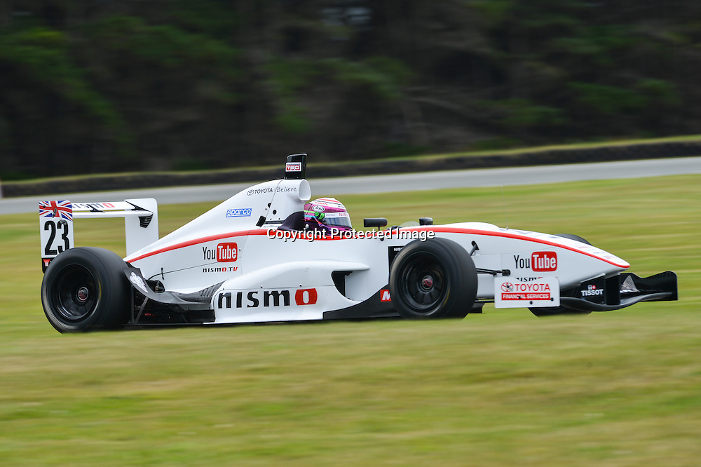 Jann Mardenborough during the Toyota Racing Series in New Zealand in 2014