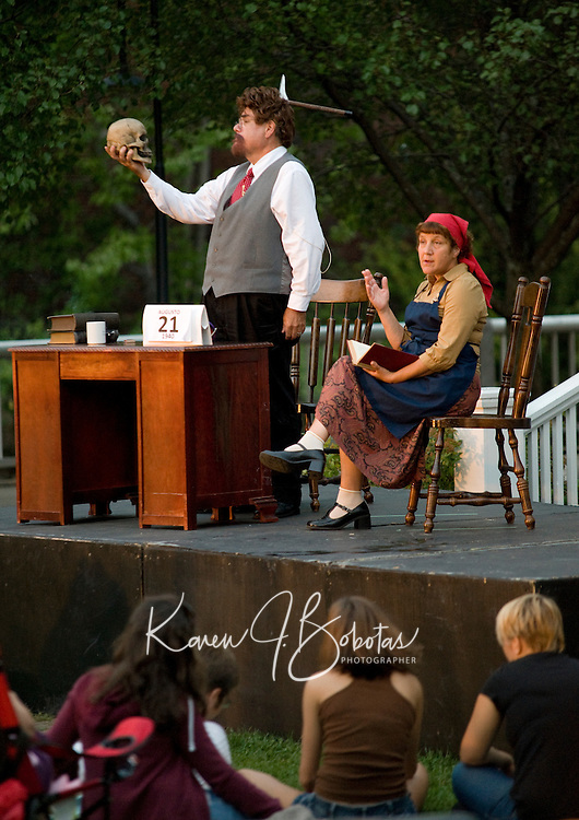 """The Streetcar Company presents """"Theatre in the Park"""" at Rotary Riverside Park August 10, 2010.  Karen Bobotas/for the Laconia Daily Sun"""
