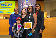 Petersen Elementary School is recognized during the reveal of the 32 finalists in the Houston ISD NCAA Read to the Final Four, November 11, 2015.