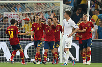 FOOTBALL - UEFA EURO 2012 - DONETSK - UKRAINE  - 1/4 FINAL - SPAIN v FRANCE - 23/06/2012 - PHOTO PHILIPPE LAURENSON /  DPPI - JOY SPAIN TEAM AFTER XABI ALONSO (ESP) GOAL