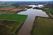 Nederland, Limburg, Well, 15-11-2010; Maashaven en hoogwater, gezien naar het Noorden, richting watersportgebied 't Leukermeer..High water, towards the North and water area 't Leukermeer..luchtfoto (toeslag), aerial photo (additional fee required).foto/photo Siebe Swart