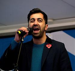Independence Rally, Glasgow, Saturday 2nd November 2019<br /> <br /> Pictured: Humza Yousaf MSP<br /> <br /> Alex Todd | Edinburgh Elite media
