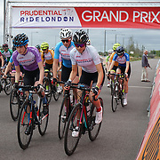 London, England, UK. 27th July 2017. Hundreds participate for the Prudential Ride London at Lee Valley VeloPark.