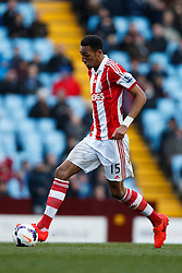 Stoke Midfielder Steven N'Zonzi (FRA) in action - Photo mandatory by-line: Rogan Thomson/JMP - 07966 386802 - 23/03/2014 - SPORT - FOOTBALL - Villa Park, Birmingham - Aston Villa v Stoke City - Barclays Premier League.