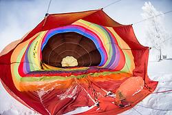 11.02.2015, Zell am See - Kaprun, AUT, BalloonAlps, im Bild das Innere einer Ballon Hülle // BalloonAlps, The Alps Crossing Event balloonalps is Austria's international Winter balloon week in front of the backdrop of the Hohe Tauern, Zell am See Kaprun on 2015/02/11, . EXPA Pictures © 2014, PhotoCredit: EXPA/ JFK
