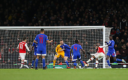 Alexandre Lacazette of Arsenal shoots - Mandatory by-line: Arron Gent/JMP - 27/02/2020 - FOOTBALL - Emirates Stadium - London, England - Arsenal v Olympiacos - UEFA Europa League Round of 32 second leg
