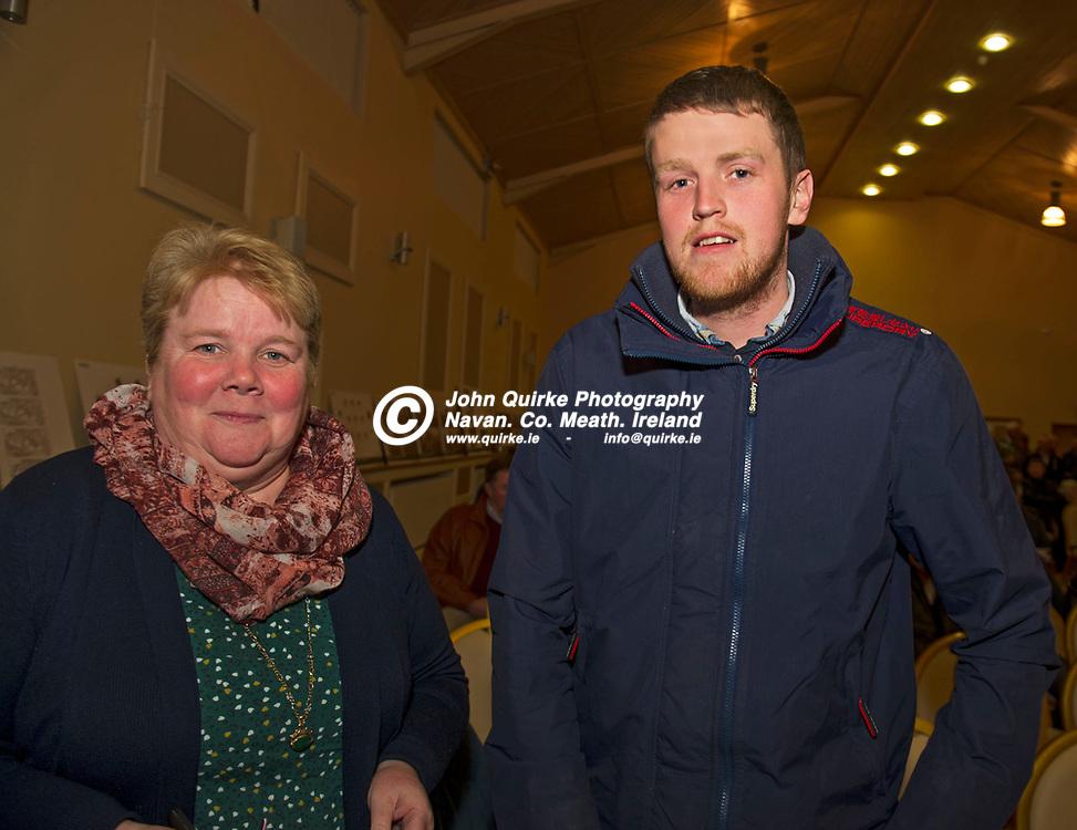 11-12-17. Meath GAA Annual Convention at Navan O'Mahony's GAA Clubhouse, Navan.<br /> Patricia Plunkett and Shane Gilsenan, St. Brigid's.<br /> Photo: John Quirke / www.quirke.ie<br /> ©John Quirke Photography, Unit 17, Blackcastle Shopping Cte. Navan. Co. Meath. 046-9079044 / 087-2579454.