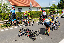 Juraj BELLAN of DUKLA BANSKA BYSTRICA, Dimitri PEYSKENS of BINGOAL PAUWELS SAUCES, Zeb KYFFIN of RIBBLE WELDTITE PRO during 1st Stage of 27th Tour of Slovenia 2021 cycling race between Ptuj and Rogaska Slatina (151,5 km), on June 9, 2021 in Sports park Kranj, Kranj, Slovenia. Photo by Ziga Zupan / Sportida