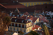 Buildings at Baixa district, now restored and once created at the orders of Marquês de Pombal after the 1755 earthquake, that destroyed more than 80% of the city of Lisbon.