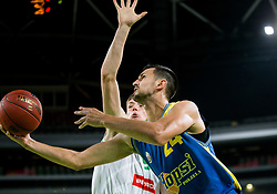 Simo Atanackovic of Hopsi during basketball match between KK Petrol Olimpija and KK Hopsi Polzela in Round #2 of Liga NovaKBM 2018/19, on October 21, 2018, in Arena Stozice, Ljubljana, Slovenia. Photo by Vid Ponikvar / Sportida