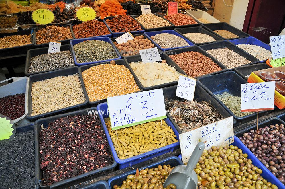 Herbs and spices at the Acre, market, Israel, western Galilee