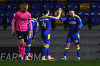 Football - 2020 / 2021 Sky Bet League One - AFC Wimbledon vs Peterborough United - Plough Lane<br /> <br /> AFC Wimbledon's Ryan Longman scores the opening goal.<br /> <br /> COLORSPORT/ASHLEY WESTERN