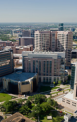 Stock photo of an aerial view of MD Anderson Cancer Center in the Texas Medical Center, Houston
