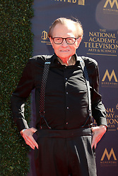 April 30, 2017 - Pasadena, CA, USA - LOS ANGELES - APR 30:  Larry King at the 44th Daytime Emmy Awards - Arrivals at the Pasadena Civic Auditorium on April 30, 2017 in Pasadena, CA (Credit Image: © Kathy Hutchins/via ZUMA Wire via ZUMA Wire)