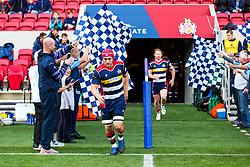 runs out - Rogan/JMP - 22/10/2017 - RUGBY UNION - Ashton Gate Stadium - Bristol, England - Bristol Rugby v Doncaster Knights - B&I Cup.