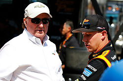 April 13, 2018 - Bristol, TN, U.S. - BRISTOL, TN - APRIL 13:  #21: Daniel Hemric, Richard Childress Racing, Chevrolet Camaro South Point Hotel & Casino and car owner Richard Childress during practice for the 36th annual Fitzgerald Glider Kits 300 on Friday April 13, 2018 at Bristol Motor Speedway in Bristol Tennessee (Photo by Jeff Robinson/Icon Sportswire) (Credit Image: © Jeff Robinson/Icon SMI via ZUMA Press)