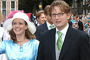 His highness prince Pieter-Christiaan of Oranje Nassau, of Vollenhoven and Ms drs. A.T. van Eijk get married  in the Great or St Jeroens Church in Noordwijk. <br /> <br /> <br /> Zijne Hoogheid Prins Pieter-Christiaan van Oranje-Nassau, van Vollenhoven en mevrouw drs. A.T. van Eijk treden in het (kerkelijk) huwelijk in de Grote St. Jeroenskerk in Noordwijk<br /> <br /> On the photo/Op de foto:<br /> <br /> <br /> <br /> Zijne Hoogheid Prins Bernhard van Oranje-Nassau, van Vollenhoven <br /> Hare Hoogheid Prinses Annette van Oranje-Nassau, van Vollenhoven<br /> <br /> His highness prince Bernhard van Oranje-Nassau, of Vollenhoven her highness princess Annette van Oranje-Nassau, of Vollenhoven