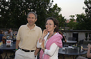 Luke Johnson and  and Jenny Waldman. Film Four and Somerset House host a Reception and open air screening of Close Encounters of a third Kind. Somerset House, 16 August 2005. ONE TIME USE ONLY - DO NOT ARCHIVE  © Copyright Photograph by Dafydd Jones 66 Stockwell Park Rd. London SW9 0DA Tel 020 7733 0108 www.dafjones.com