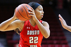 NORMAL, IL - December 04: Keisha Gregory during a college women's basketball game between the ISU Redbirds  and the Austin Peay Governors on December 04 2018 at Redbird Arena in Normal, IL. (Photo by Alan Look)
