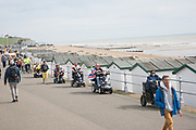 Grand Parade of mobility scooters, Bexhill wheel and walk mobility carriages. Proceeds to Bexhill Caring Community. 16 September 2018