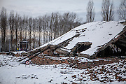 Ruin of gas chamber and crematorium II in Auschwitz Birkenau. Towards the end of the war, the SS began to remove the evidence of the atrocities committed in Auschwitz , and in November 1944 the installation was dismantled. On January 20th 1945 dynamite was used to destroy what remained.