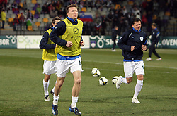 Matej Mavric Rozic of Slovenia warming up before the 8th day qualification game of 2010 FIFA WORLD CUP SOUTH AFRICA in Group 3 between Slovenia and Czech Republic at Stadion Ljudski vrt, on March 28, 2008, in Maribor, Slovenia. Slovenia vs Czech Republic 0 : 0. (Photo by Vid Ponikvar / Sportida)