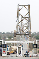 Police checkpoint at the Save River Bridge, Save River Bridge, Inhambane Province, Mozambique