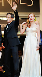 Ben Stiller & Jessica Chastain   at the premiere of Madagascar 3 Europe's Most Wanted at the Cannes Film Festival, Friday, May 18th  2012. Photo by: Ki Price  / i-Images