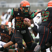 Florida A&M Rattlers running back Tysean Holloway (20) runs the football during the Florida Classic NCAA football game between the FAMU Rattlers and the Bethune Cookman Wildcats at the Florida Citrus bowl on Saturday, November 22, 2014 in Orlando, Florida. (AP Photo/Alex Menendez)