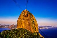 Cable car to the top of Sugarloaf (Urca Mountain), Rio de Janeiro, Brazil