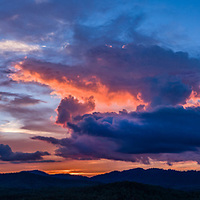 Sunset over Young Harris, GA