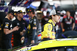 April 27, 2018 - Talladega, Alabama, United States of America - Ryan Blaney (12) hangs out in the garage during practice for the GEICO 500 at Talladega Superspeedway in Talladega, Alabama. (Credit Image: © Justin R. Noe Asp Inc/ASP via ZUMA Wire)