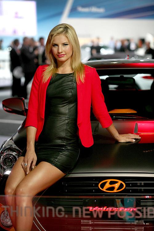 Lauryn Eagle endorses Hyundai at the Australian International Motor Show, Sydney