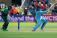 Cricket - 2019 ICC Cricket World Cup - Group Stage: England vs Bangladesh<br />                          <br />               Jason Roy cuts<br />  …at Cardiff Wales Stadium.<br /> <br /> Credit: COLORSPORT/WINSTON BYNORTH