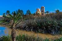 Qasr-Al-Yahud on the River Jordan, where Jesus was baptized by John the Baptist, Israel.