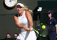 Tennis - 2017 Wimbledon Championships - Week One, Saturday [Day Six]<br /> <br /> Womens singles - Third round match<br /> Anett Kontavelt (EST) v Caroline Wozniacki (DEN) <br /> <br /> Caroline Wozniacki  on  Court 1<br /> <br /> COLORSPORT/ANDREW COWIE