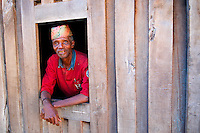 Madagascar. village Zafimaniry de Sakaivu. Dominique le chef du village. // Madagascar. Sakaivu is a Zafimaniry village. The chief of the village.
