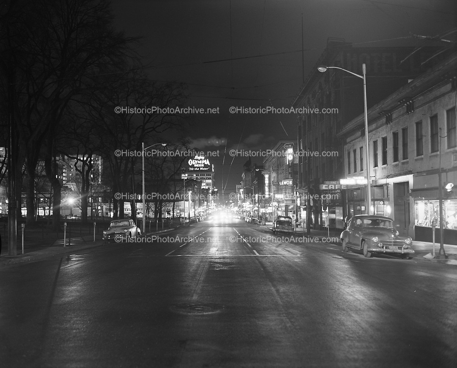 Y-590206-01.  SW 3rd looking north from Main. February 6, 1959
