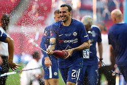 Chelsea's Davide Zappacosta celebrates after the final whistle during the Emirates FA Cup Final at Wembley Stadium, London.