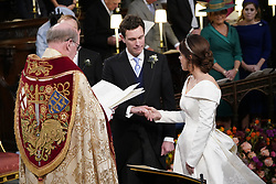 The Wedding of Princess Eugenie to Jack Brooksbank at Windsor Castle. 12 Oct 2018 Pictured: Princess Eugenie and Jack Brooksbank. Photo credit: WPA POOL/Mega TheMegaAgency.com +1 888 505 6342