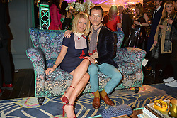 ANNALISE FARD director of Harrods Home and MATTHEW WILLIAMSON at the Duresta For Matthew Williamson Exclusive Launch At Harrods, Knightsbridge, London on 10th March 2016.