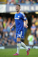 Gary Cahill of Chelsea looks on. Barclays Premier league match, Chelsea v Manchester Utd at Stamford Bridge Stadium in London on Saturday 18th April 2015.<br /> pic by John Patrick Fletcher, Andrew Orchard sports photography.