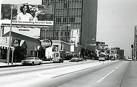 1973 Looking west on Sunset Blvd. towards Hammond Ave.