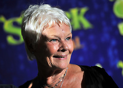 Judi Dench arrives at the after party for the opening night of Shrek: The Musical, at Somerset House in central London.