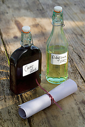 Glass storage bottles