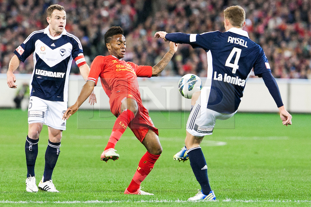 © Licensed to London News Pictures. 24/7/2013. Raheem Sterling  during the Melbourne Victory Vs Liverpool F.C at the Melbourne Cricket Ground, Melbourne, Australia. Photo credit : Asanka Brendon Ratnayake/LNP