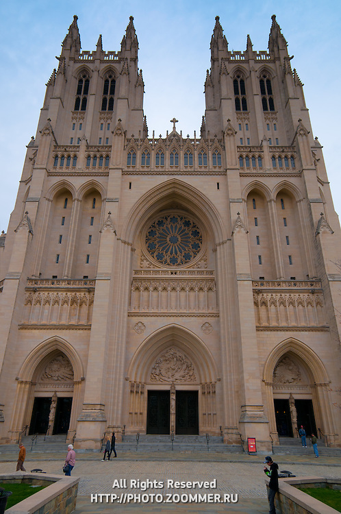 Washington National Cathedral West Front Main Entrance